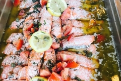 West Coast Sockeye Salmon in Lemon Dill